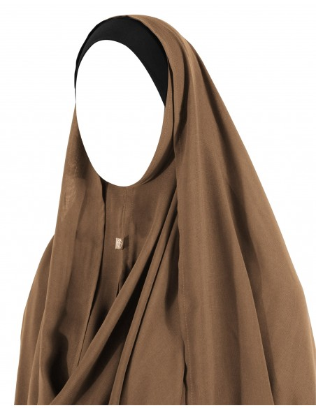 Hooded Wrap Hijab (Caramel)