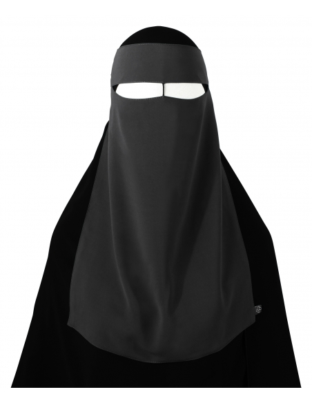 One Piece Niqab /w Nose String (Dark Grey)