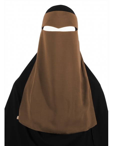 One Piece Widow's Peak Niqab (Caramel)