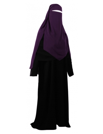 Extra Long Diamond Niqab (Eggplant)