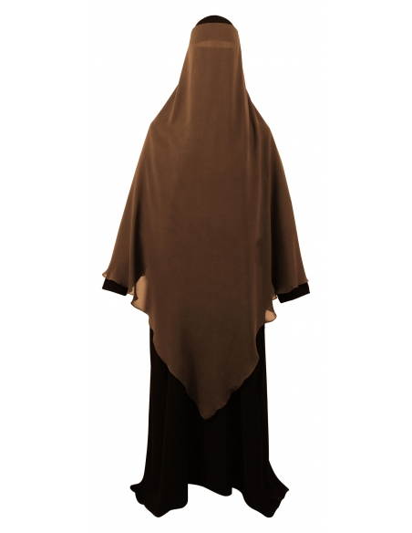 Extra Long Diamond Niqab (Caramel)