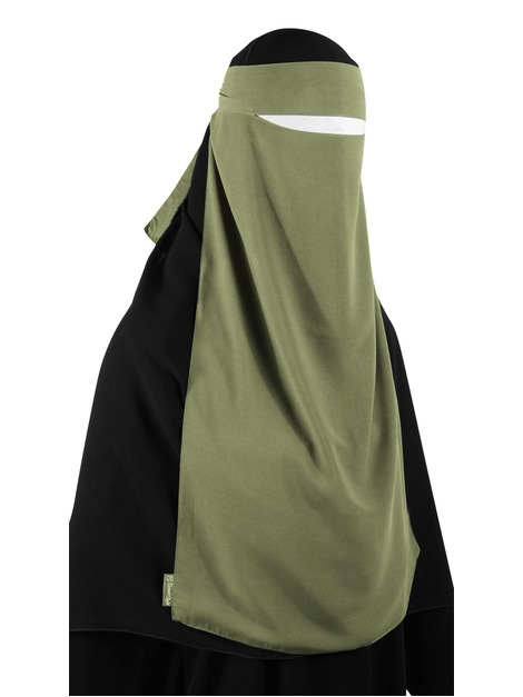 Long One Piece Niqab (Moss)