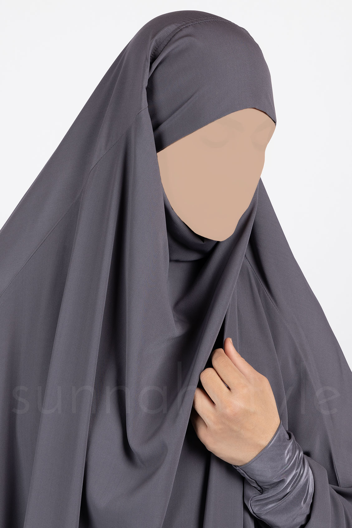 Plain Full Length Jilbab (Grey)