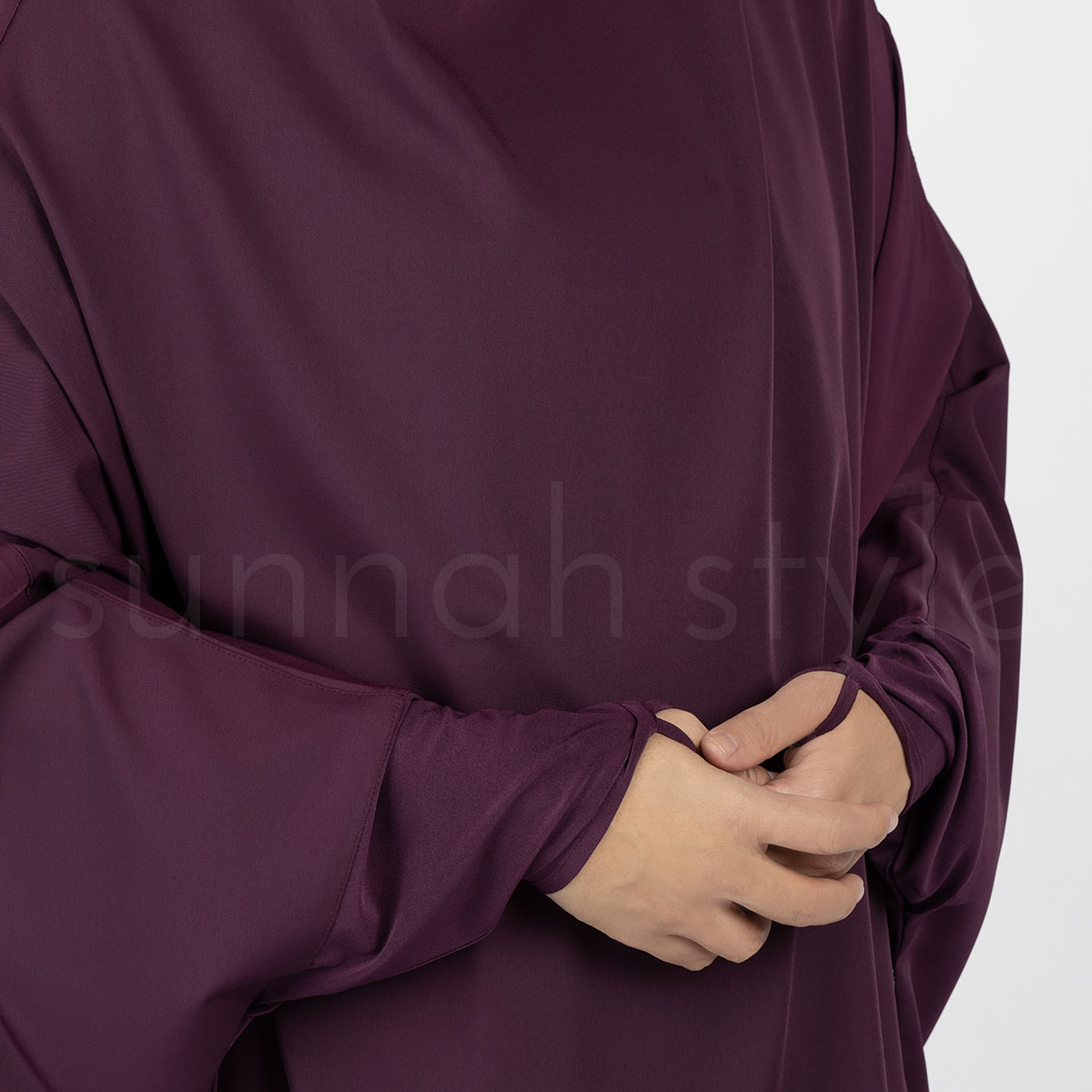 Signature Jilbab Top - Thigh Length (Mulberry)